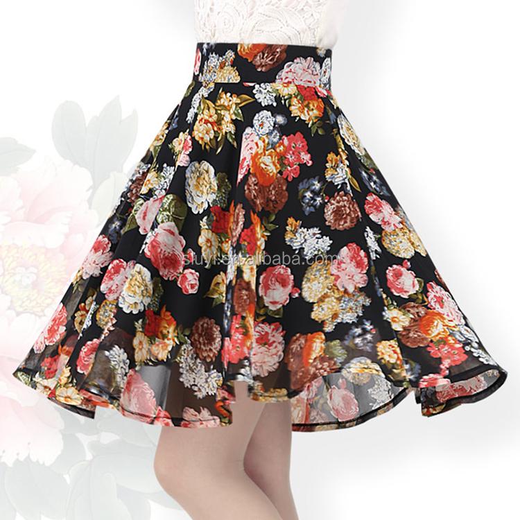 mode floral jupe femmes sexy fille mini jupe images plein. Black Bedroom Furniture Sets. Home Design Ideas