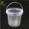 Transparent Plastic Tamper Proof Tubs Pot Buckets Storage Containers 1L with lid