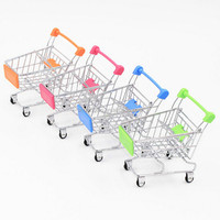 High quality mini supermarket children shopping trolley cart, Children's toy model