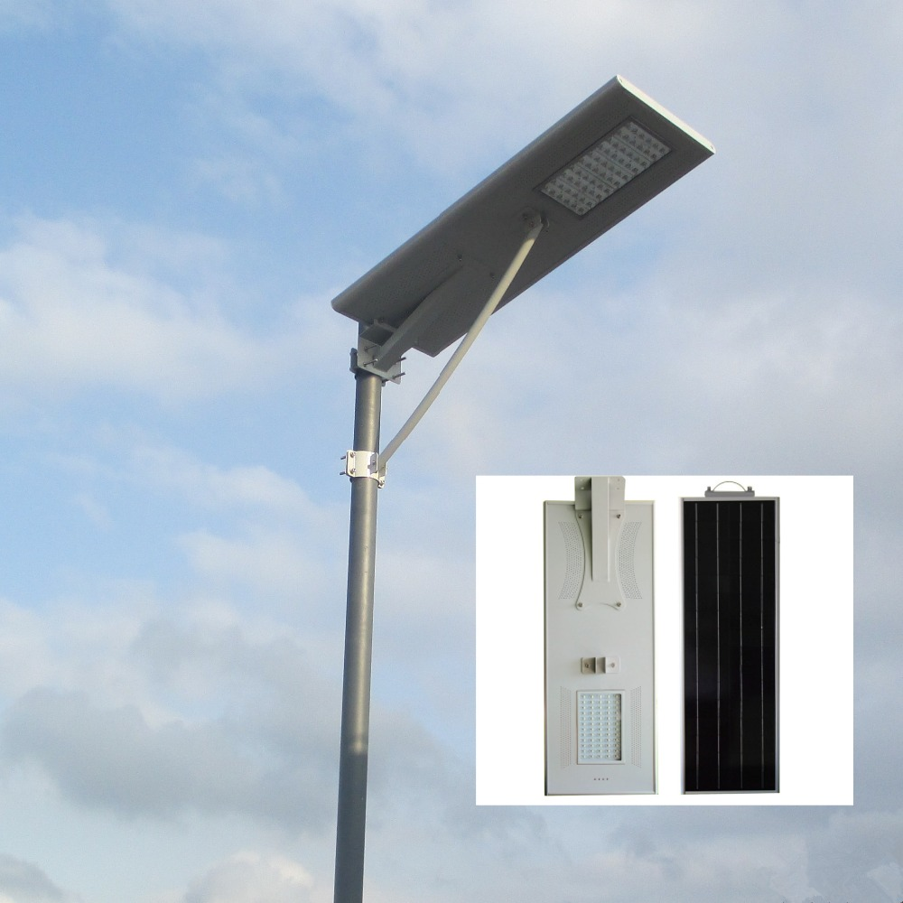 Led Based 60 Watt 12 Volt Integrated Solar Street Lighting System Buy 60w Lifepo4 Battery High Power All In One Light With Out