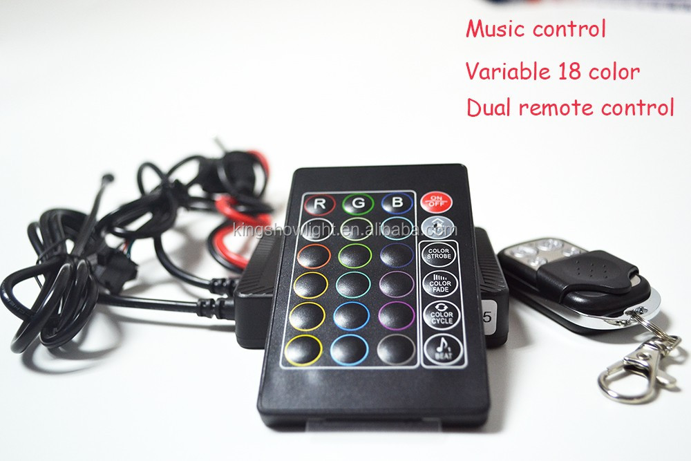 12v TWO remote control rgb music controller for led motorcycle light