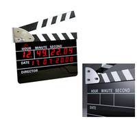 UCHOME Creative led movie slate clock movie clapper clock for 2019 yiwu wholesale market