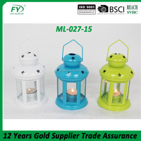 Gifts & Decor colorful Colonial Style Candle Holder Hanging Lantern Lamp ML-027-15