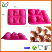 Funny rabbit cartoon silicone cake mold chocolate mould