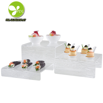 New Style Custom Clear Acrylic Appetizer Riser