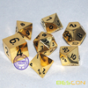 Deluxe Metal Golden Polyhedral game Dice Set, Golden RPG game Dice