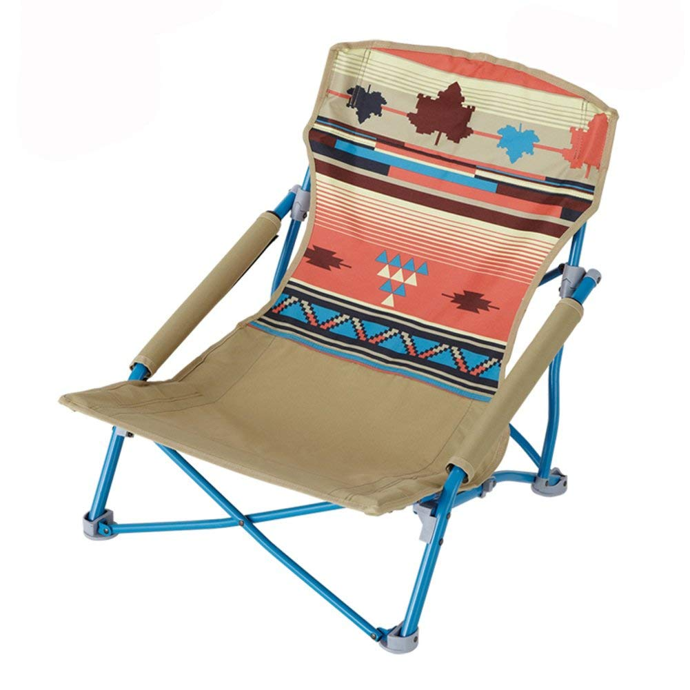 Outdoor Folding Camping Chair, Mini Deck Chair Recliners European Lounge Chair Portable Fishing Beach Chair Leisure Chair Moon Chair Carry Bag