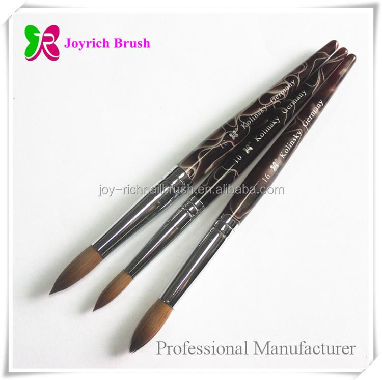 Acrylic Nail Brush Kolinsky Germany Nail Art Brush Names - Buy Nail ...