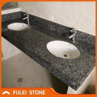 Cut-to-size cheap blue pearl granite bathroom countertop vanity tops