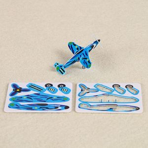 TOP sale many colors aircraft kids hobbies PP puzzle 3d cartoon cards