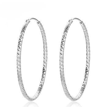 Etsy 925 Sterling Silver Jewelry Eardrop Round Polished Hoop Earrings