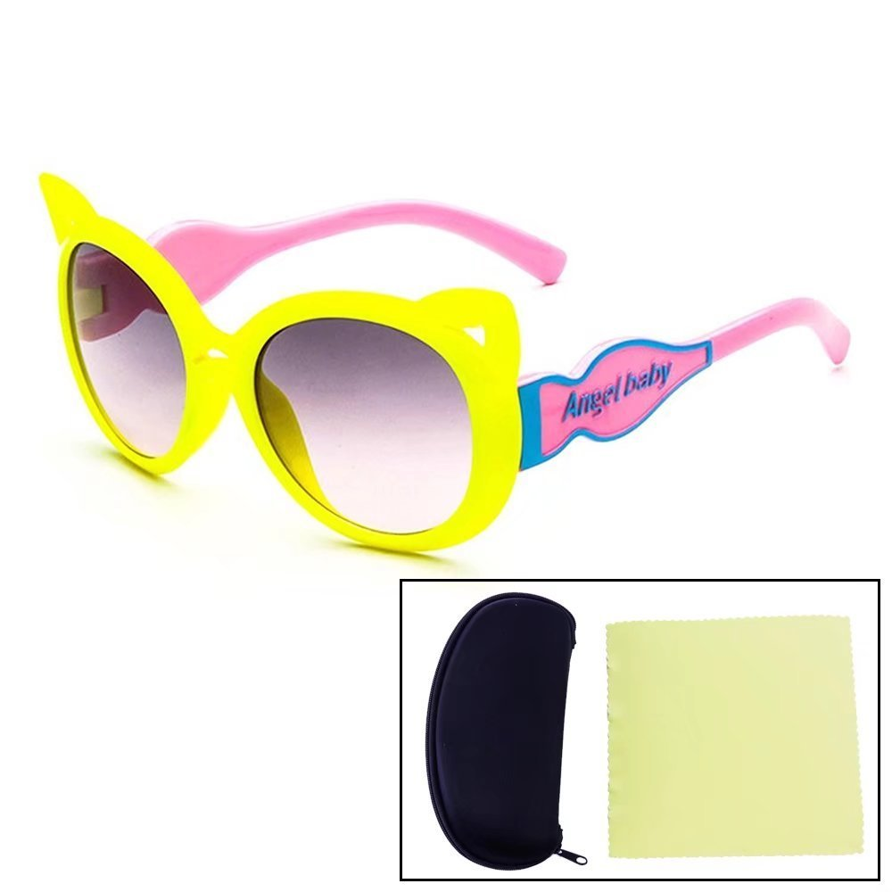 84b1135acd9 Get Quotations · Sealive Fashion Kids Sunglasses Cute Fox Frame Eyeglasses  Eyewear For Boys Girls Party Gift