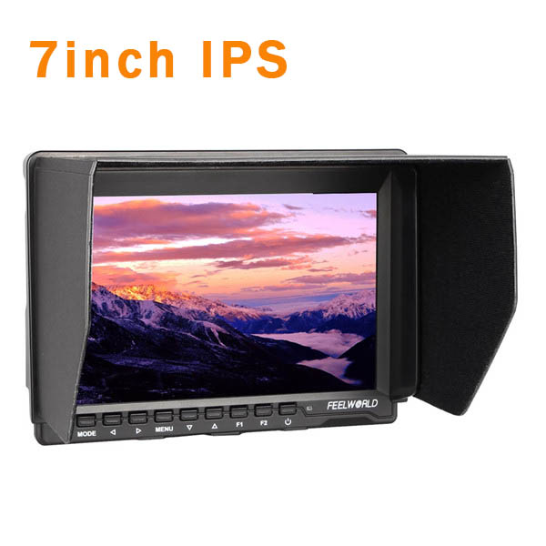 FW759 Video Camera 7'' HD IPS LCD Monitor 1280 * 800 for DSLR Camera Camcorder