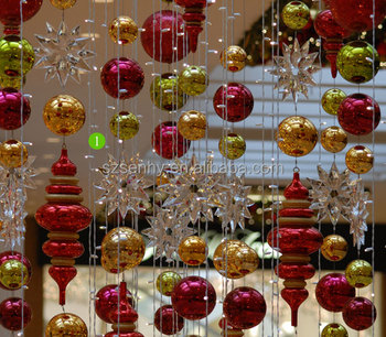 christmas items Shatterproof plastic fiber glass giant Christmas ball with different shapes for shopping mall hanging decoration
