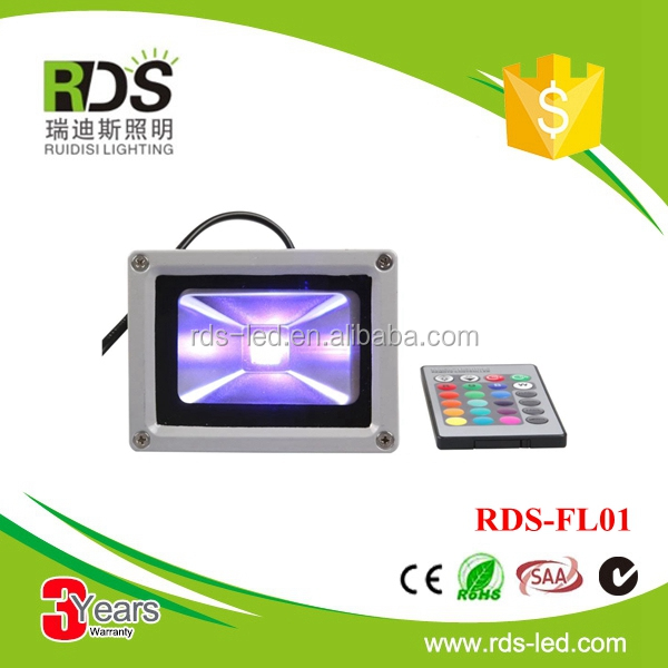 RGB color changing ip65 dmx 95lm/w 10w rgb led floodlight