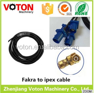 low price male male panel mount FAKRA male to U.FL/IPEX 1.13mm(D) cable assembly