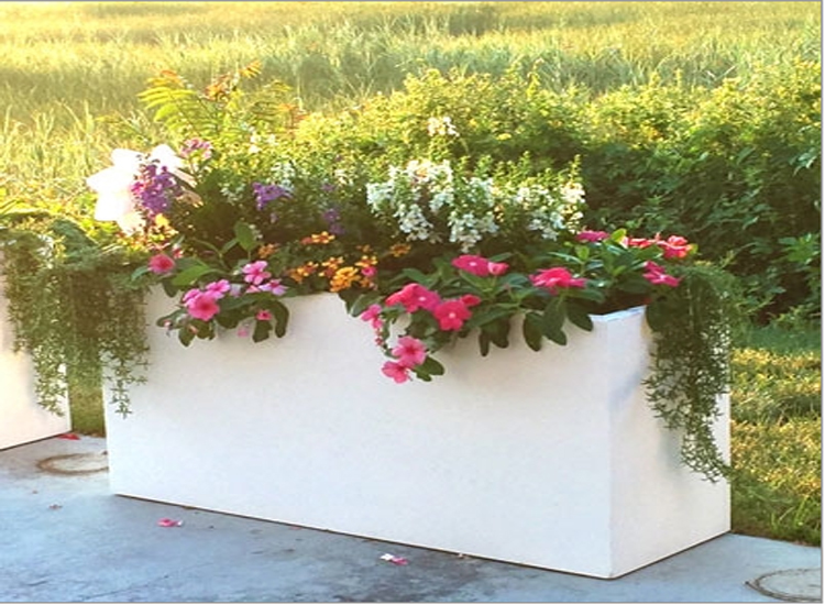 manufacturer custom rectangular planter box