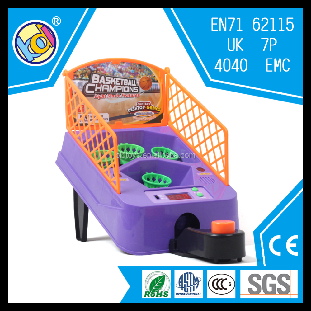 finger shoot toy table basketball game with music and light