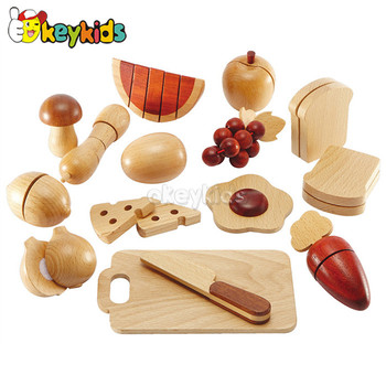 2016 wholesale baby wooden educational toy food, kitchen toy children wooden educational toy food W10B129