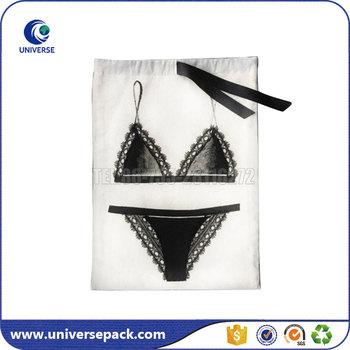 24b19e8aec Lady s Cotton Drawstring Lingerie Packaging Gift Bag Custom - Buy ...
