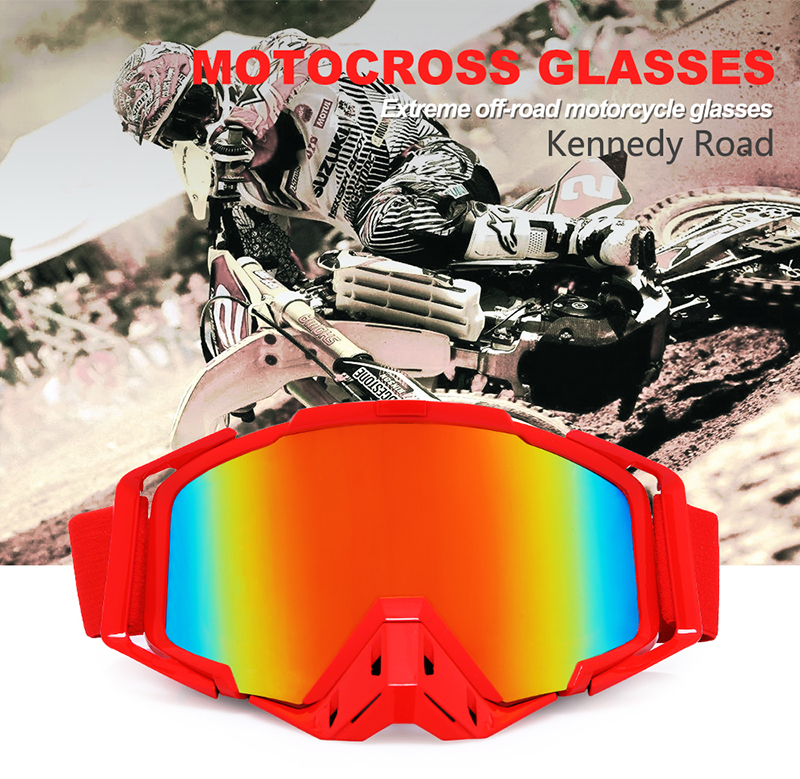 OEM Custom Logo Tpu Frame Tear Off Motorcycle Motocross Goggles