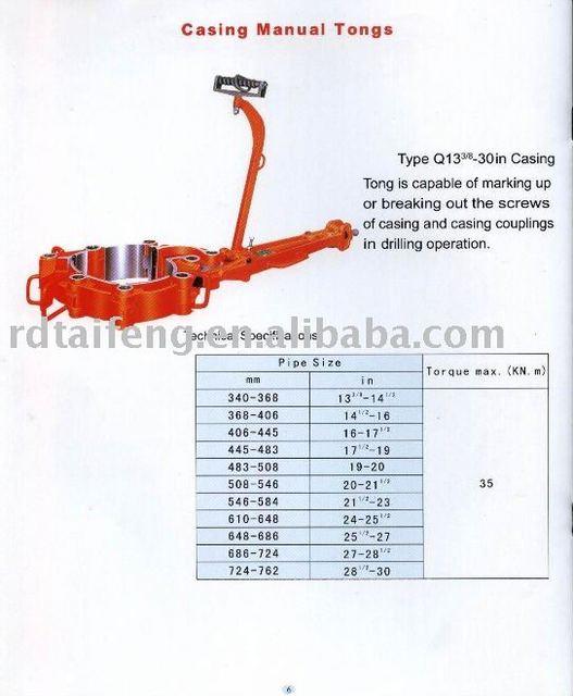 Q13 3 8 30 35 Casing Tongs Buy Casing Tongs Tubing Tong Rotary Tong Product On Alibaba Com