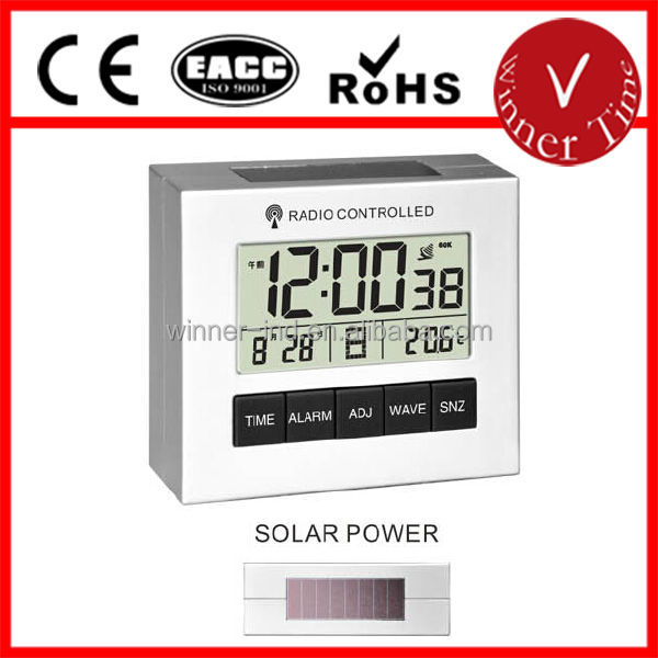 e11f8c588ffa29 Lcd Numérique Radio Contrôlée Réveil Avec Solar Power - Buy Radio ...