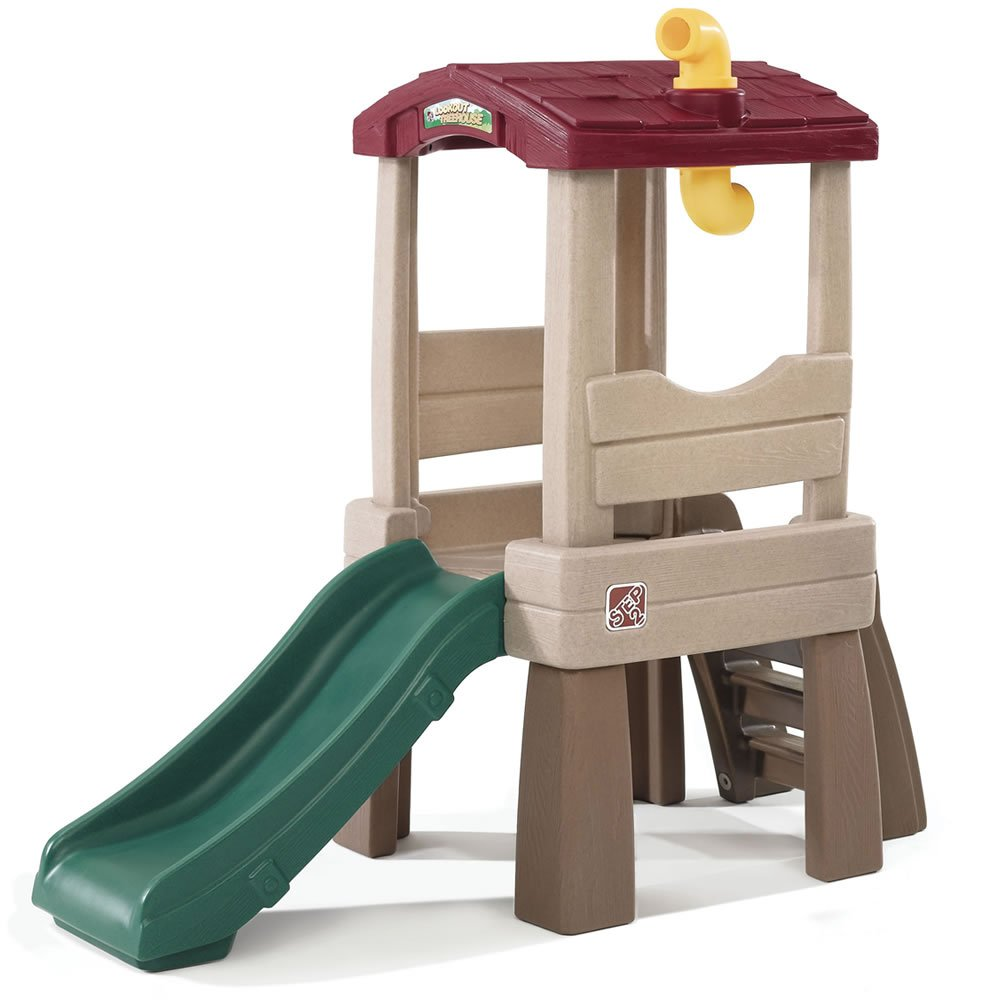 Step2 Naturally Playful Lookout Treehouse Climber for Toddler - Durable Playground Kids Slide Fun Toy, Multicolor