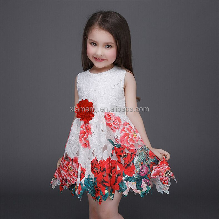 b8d33fedc Latest Birthday Lace Printing Flower Girl Dress Patterns For Girl Of ...