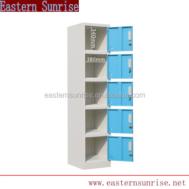 5 Door Blue Color Metal used School Lockers for Sale