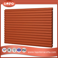Exterior Building Terracotta Wall Facade Panel for the Projects in Japan, Korea, USA