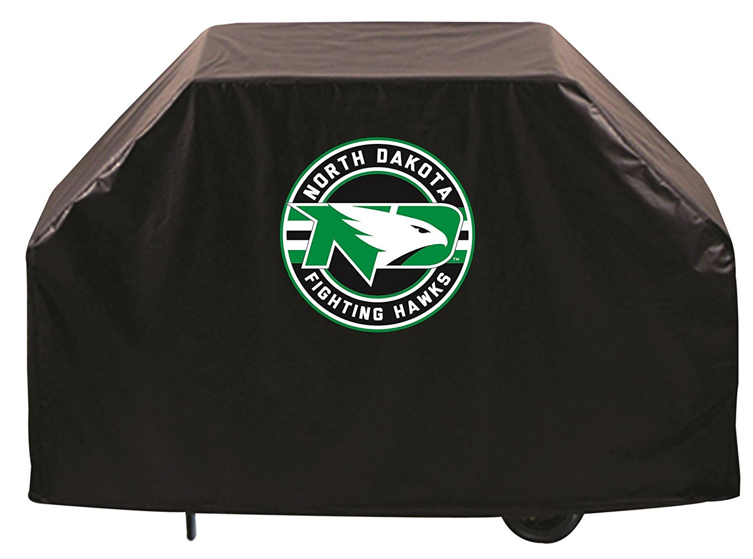 Covers by HBS University of North Dakota Grill Cover with Block logo on stylish Black Vinyl