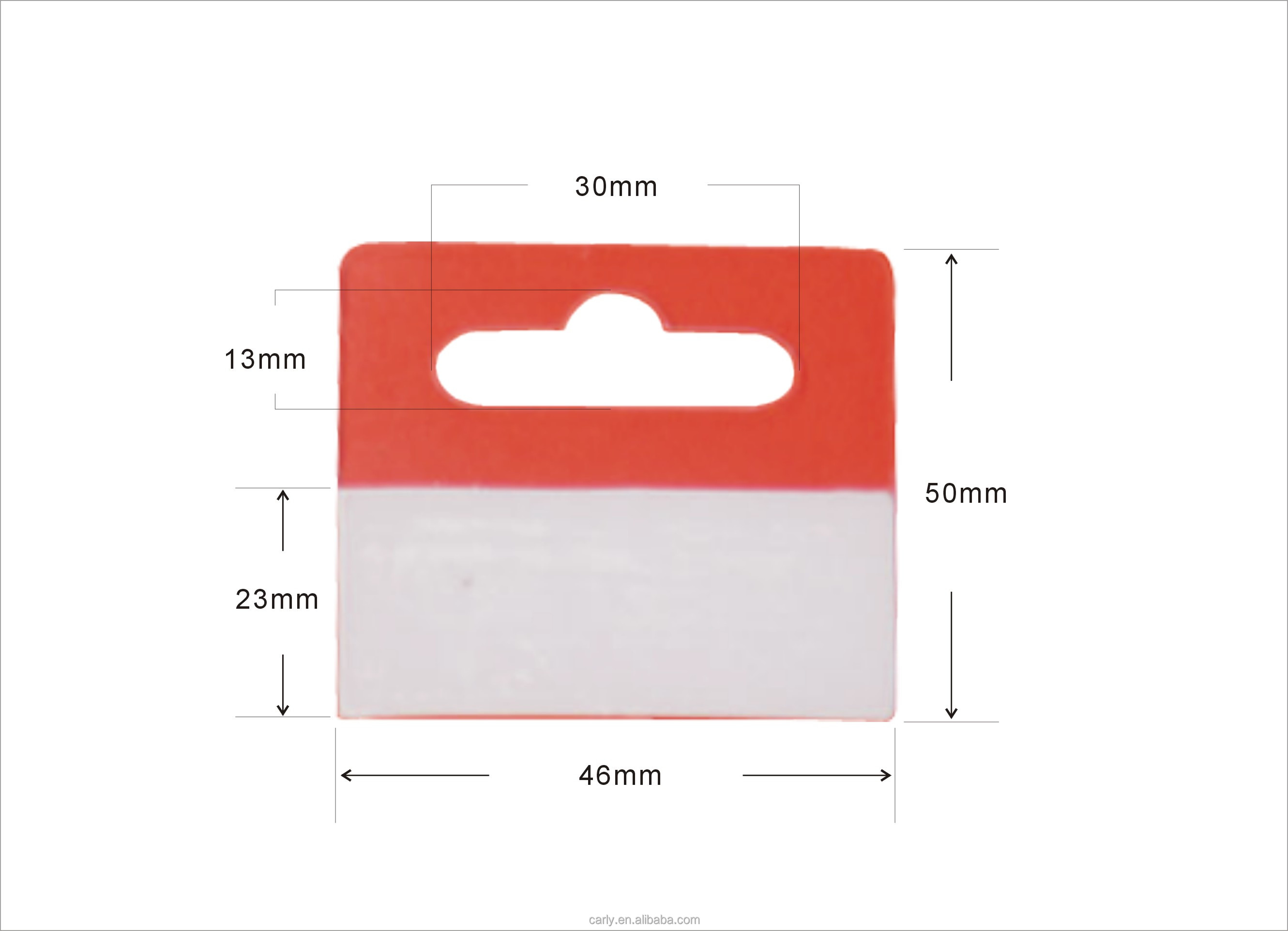 Packing Tabs Euro Pet Pvc Hang Tab Plastic Strong Self