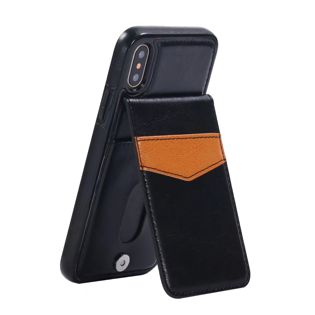 Luxury Kickstand Card Wallet Leather Flip Case Cover For iPhone X