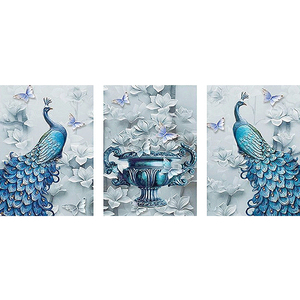 Full Drill Square Diamond 5D DIY Peacock Diamond Painting