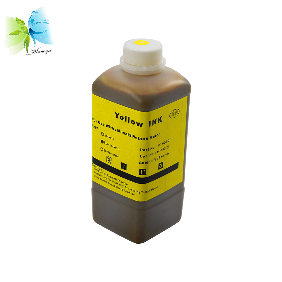 Hot sale 1000ML Eco Solvent Ink for Mutoh RJ900C RJ1300c R901 Printer high quality printing ink
