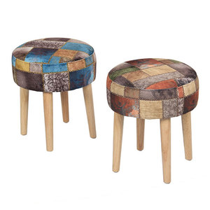 Factory Direct Sales All Kinds Of Antique Style Indian Fabric Round Ottoman Stool