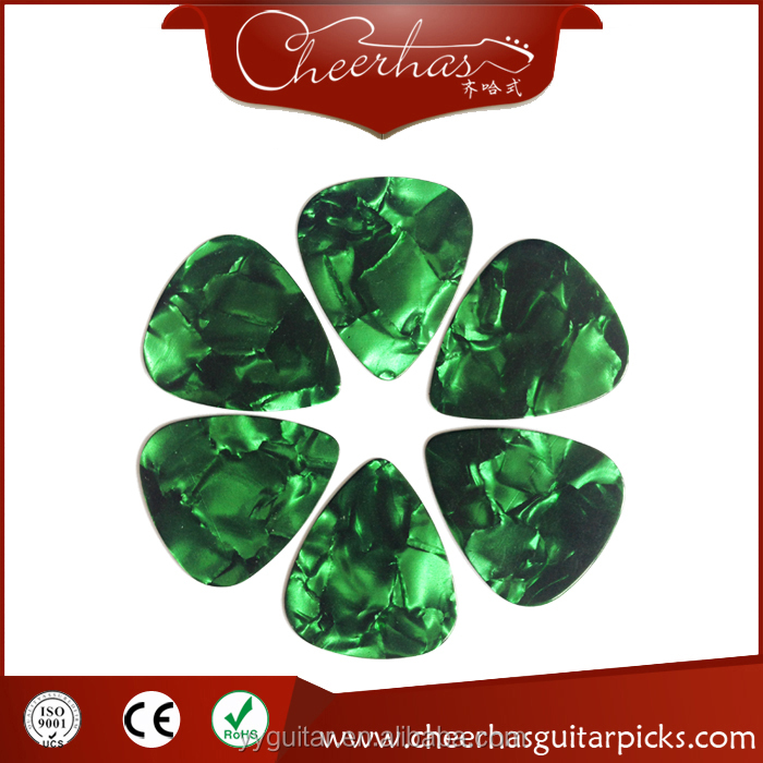 High Quality Pearl Colors Custom Celluloid Blank Guitar Picks