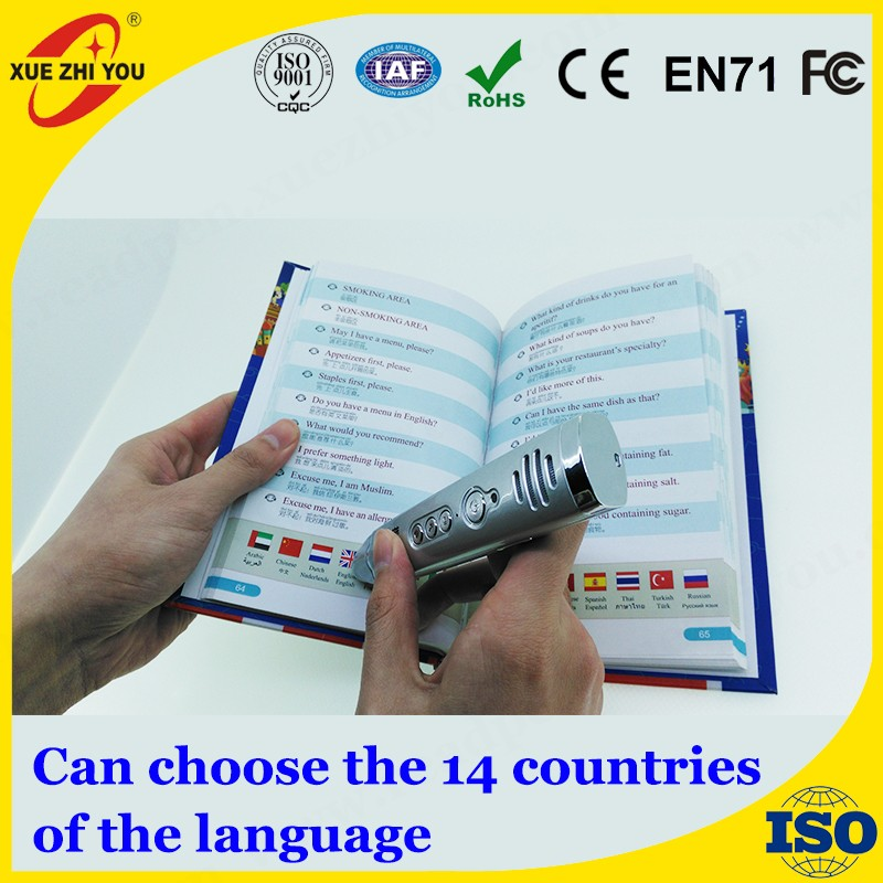 Languages Learning Device Touch and Read out Talking Pen English Arabic Reading Pen