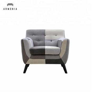 One Seater Armrest Single Fabric Sofa