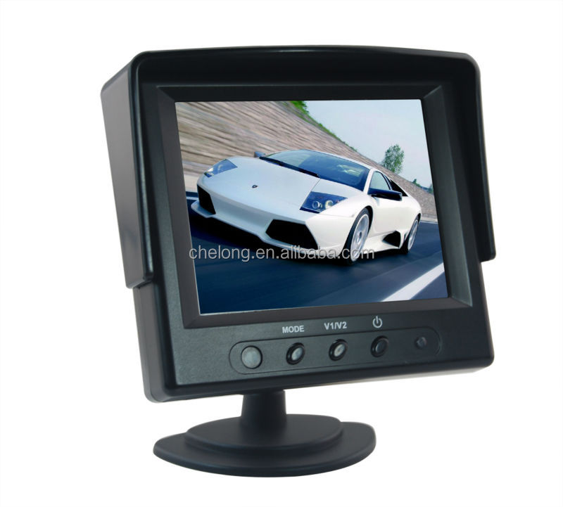3.5 Inch Car Rearview Function Automatic Image Switch To AV2 Car LCD Monitor
