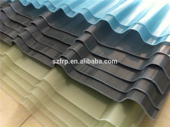Heat Resistant Glass Fiber Reinforced Polymer Grp/frp Transparent Skylight  Roofing Sheet Corrugated Fiberglass Roof