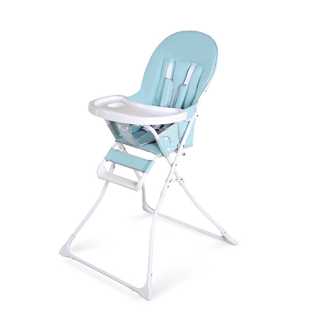 Portable Infant Highchair, Infant Highchair Feeding Recliner, Plastic Baby Folding Dining Chair, Suitable For 0-4 Years Old, L62 W66 H106cm ( Color : Green )