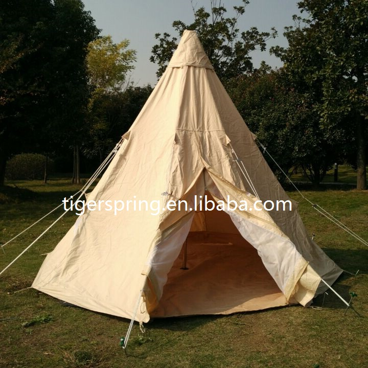 New brand camping tipi tent canvas Indian teepee bell tent