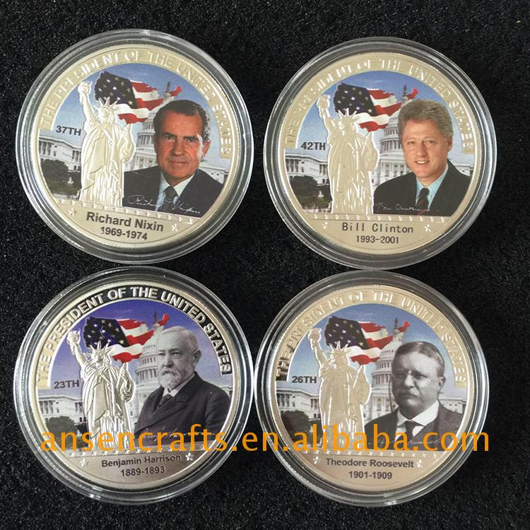 portable barack obama 44th president silver coin with long service life
