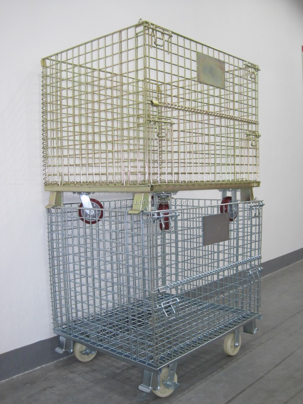 metal cage storage for warehouse use