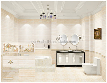 Decorative Restaurant Kitchen Bathroom Glazed Wall Tiles Plus Matching Floor 300x450mm