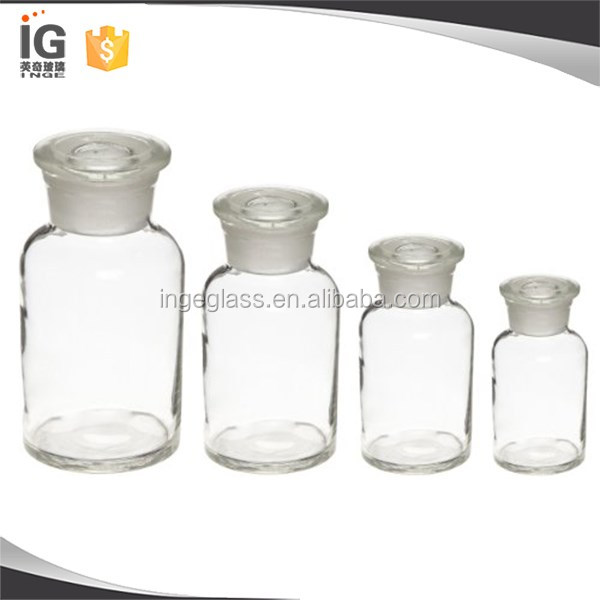 Wide/Narrow Mouth Apothecary Jar/Reagent <strong>Bottle</strong> with Frosted Stopper
