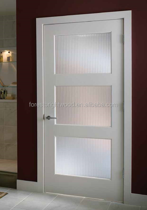 White Primed 3 Glass Panel Shaker Door   Buy Shaker Door Product On  Alibaba.com Part 5