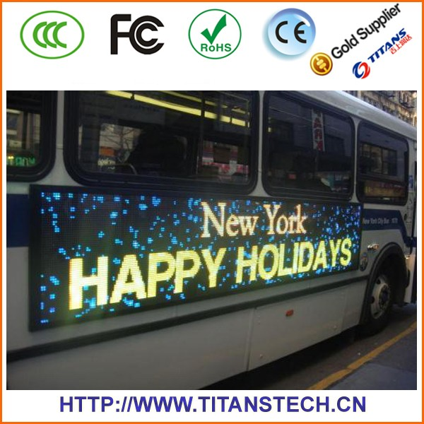 China Factor Hot Sale car top sign Of Outside Led Screen Display P6